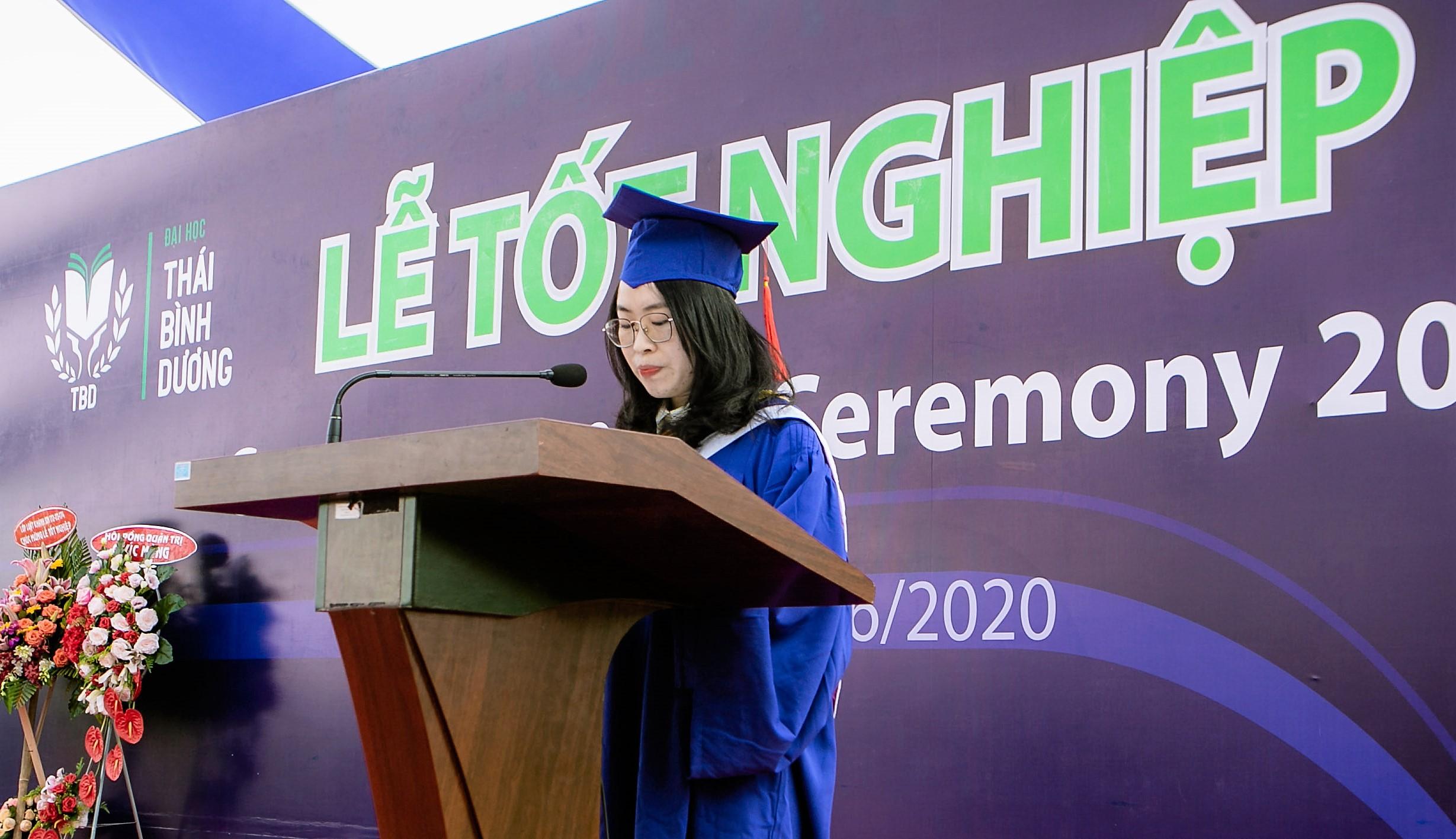 Phát biểu tri ân của Tân Thủ khoa Tốt nghiệp Nguyễn Thu Thảo