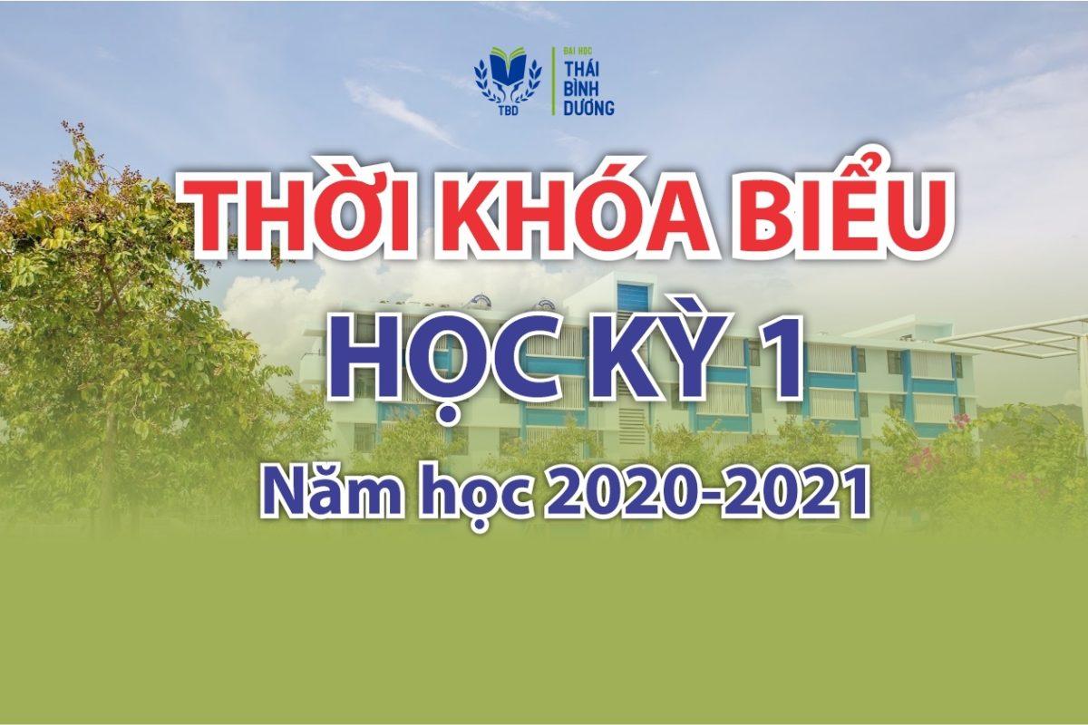 Thời khóa biểu học kỳ 1, năm học 2020 - 2021