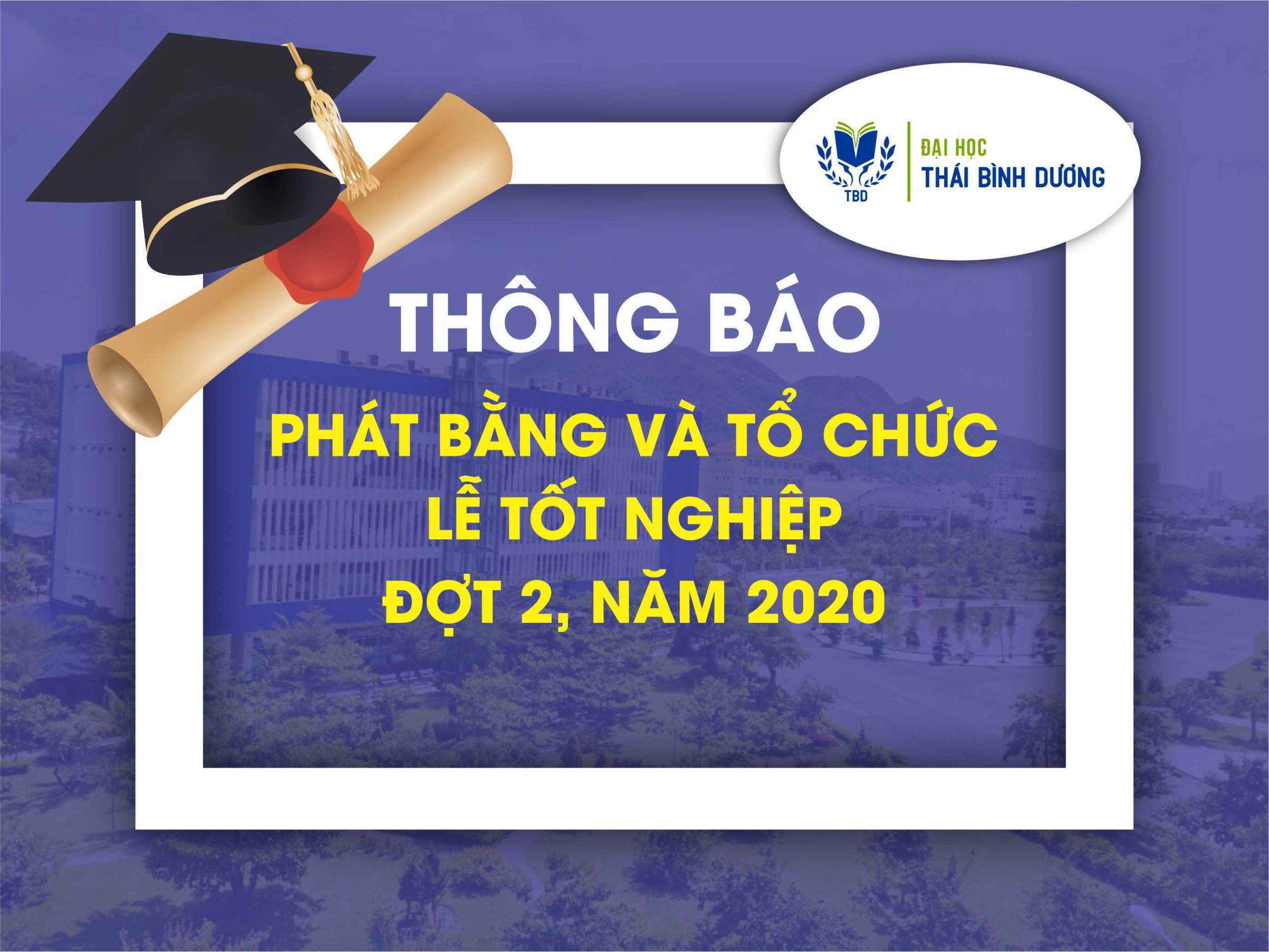 Thông báo về việc phát bằng và tổ chức Lễ tốt nghiệp đợt 2 – 2020