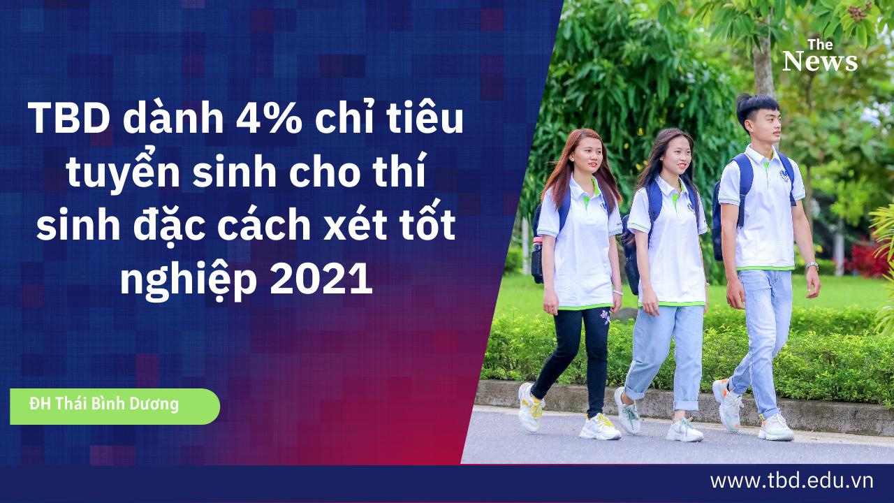 TBD dành 4% chỉ tiêu tuyển sinh cho thí sinh đặc cách xét tốt nghiệp 2021