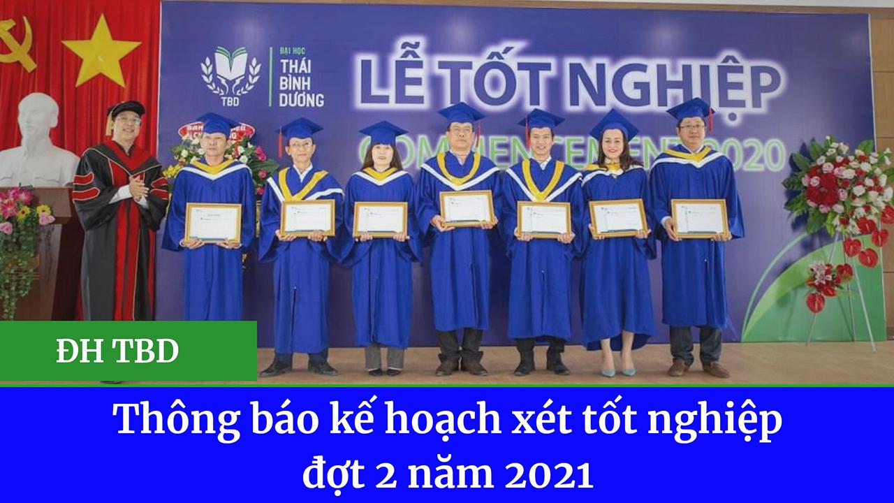Thông báo kế hoạch xét tốt nghiệp đợt 2 năm 2021